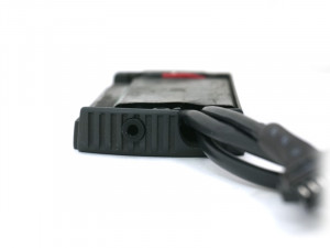 Back View showing TRS Jack for PC Connection