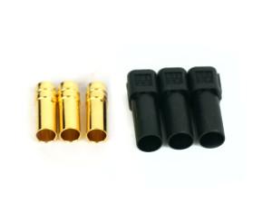 3 Female XT150 Bullet Connectors, Motor Side