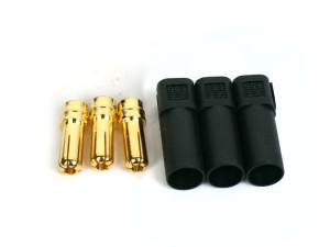 3 male XT150 Bullet Connectors, Controller Side
