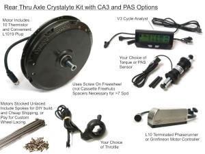 Crystalyte Rear Thru Axle, High Voltage Kit