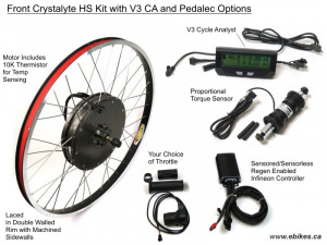 Crystalyte Prelaced Front H Kit, Advanced PAS