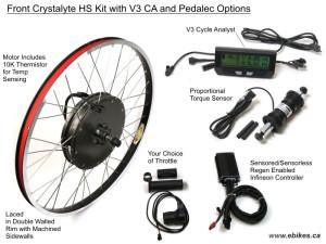Crystalyte Front H Kit, Custom Build, Advanced PAS