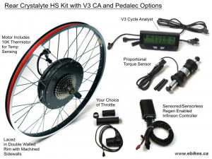Crystalyte Prelaced Rear H Kit, Advanced PAS