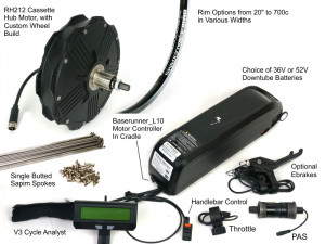 Ready to Roll Kit with RH212 Direct Drive Rear Hub Motor