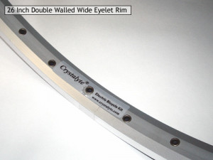 Image of 26 Inch Double Walled  Eyelet Rim