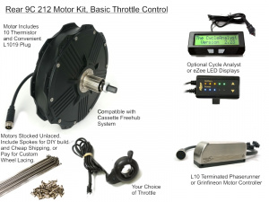 9C RH212 Minimal Motor Kit, Basic Throttle Control