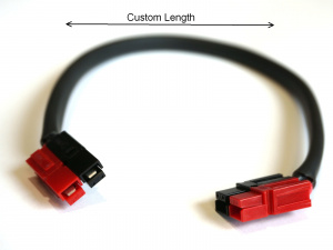 Custom Length 12 Gauge Battery Extension Cable with Anderson Powerpoles