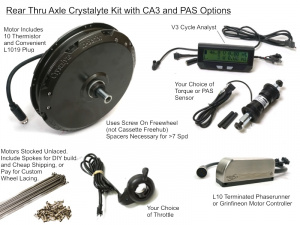 Crystalyte Rear Thru Axle, High Voltage Kit