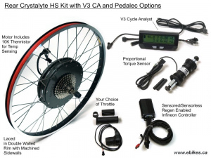 Crystalyte Prelaced Rear H Kit, Advanced PAS