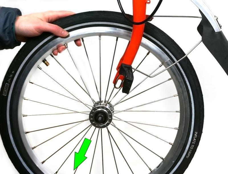 Remove Brompton wheel