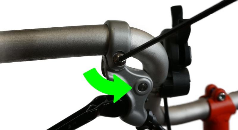 Loosen brake levers