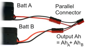 Parallel Battery Connection. Voltage Stays the Same, Amp-Hours are Added