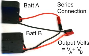 Series Battery Connection, Capacity Stays the Same, Voltages Add
