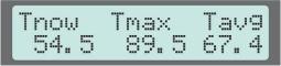 Display Screen #9, Temperature Statistics