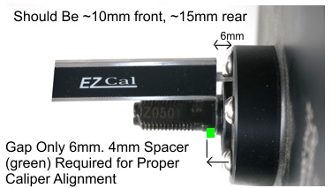 Example of Hub Motor with Poor Disk Rotor Alignment, Should be either 10mm (front) or 15m (rear) from Axle Shoulder to Disk Mounting Surface