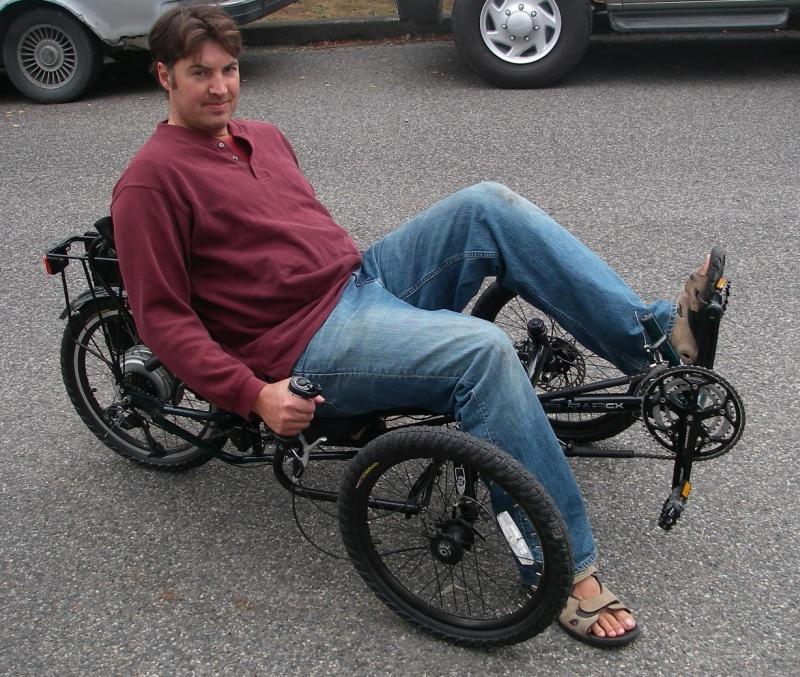 Tadpole Trike with Rear Hub Motor
