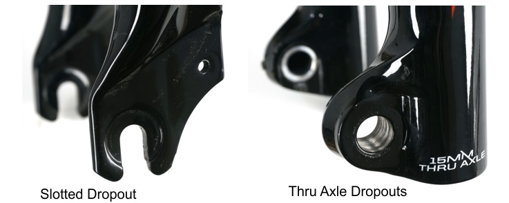 Examples of Dropouts on a Front Fork