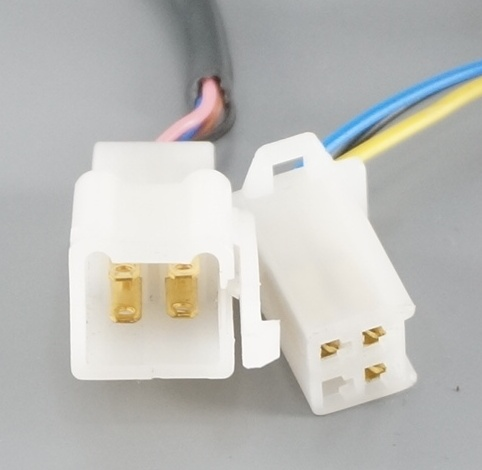 White Multipin Spade Connector Often Called