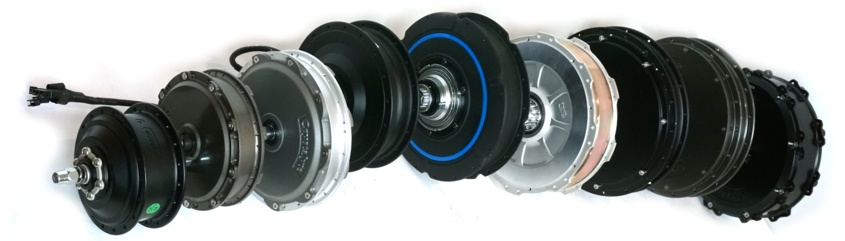 Hub motors are available in a wide range of types