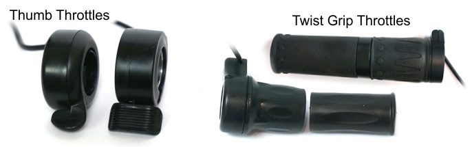 Thumb and Twist Grip Throttle Styles
