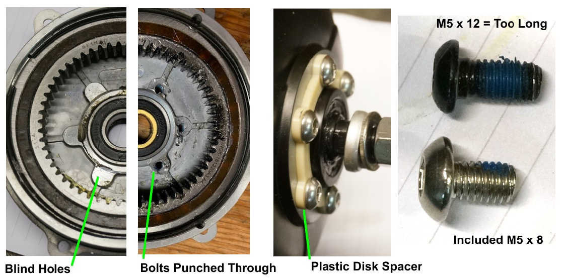 Problem with Long Disk Rotor Bolts with G31X Motors