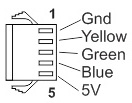 Motor Hall Signals use 5 Pin JST-SM