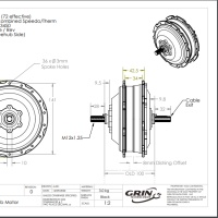 Grin's Dimensional Drawing of SX1 Hub Motor
