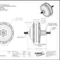 Grin's Dimensional Drawing of SX2 Hub Motor
