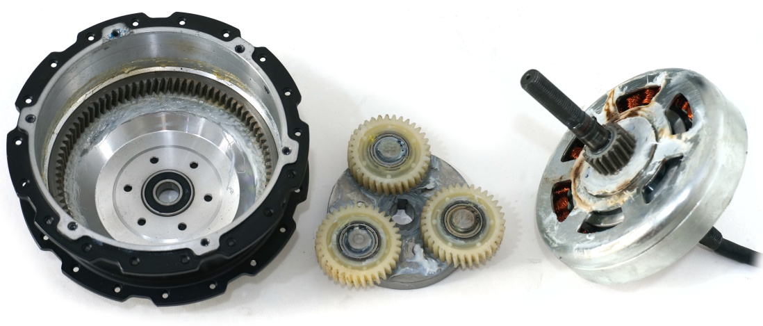 Disassembled image of SX motor