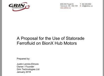 Link to Statorade Study in BionX Motors