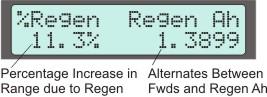 Display Screen #6, Regen Braking Stats