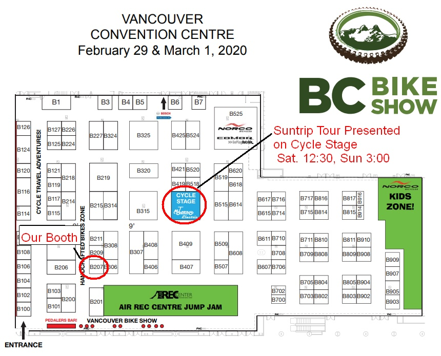 Floor Plan of 2020 BC Bike Show
