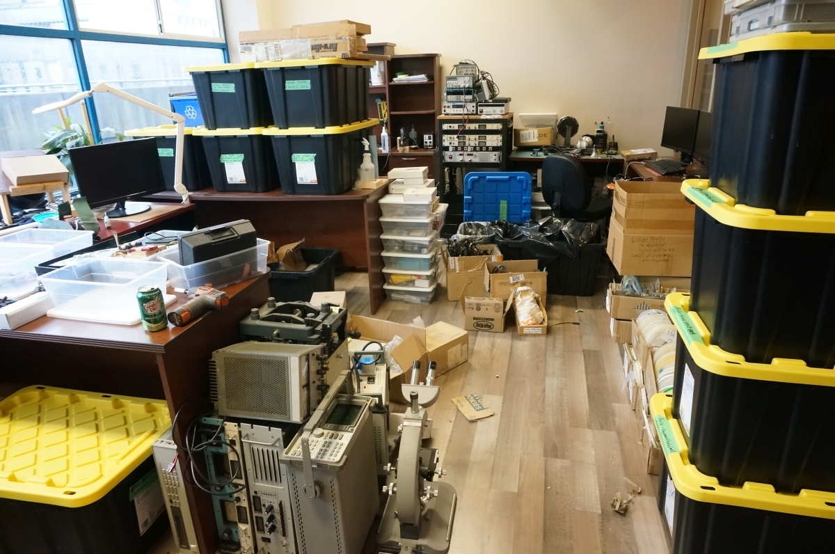 Electronics design labs getting boxed up for a new home