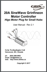 Manual for 20A Grinfineon Controller for Geared Motors with Speed Sensor