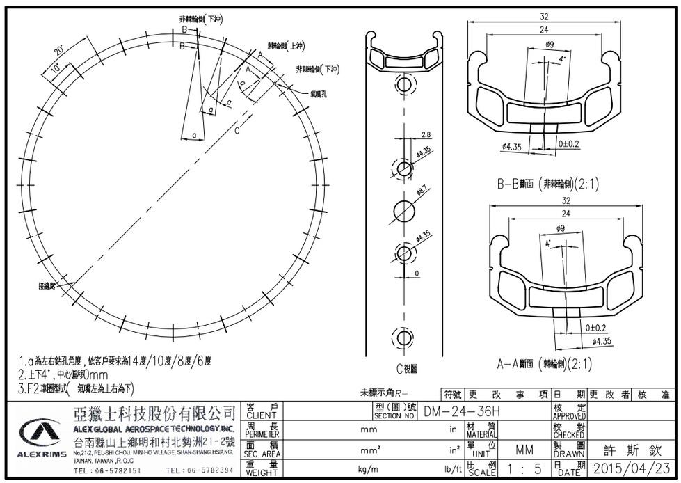 DM24 Rim with 3D Drilling