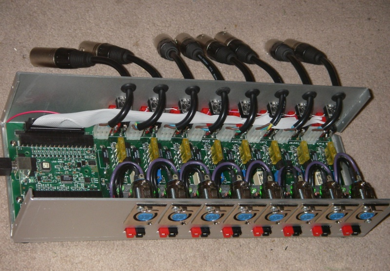 Closeup of our 8-pack custom made test station, retired at last earlier this year