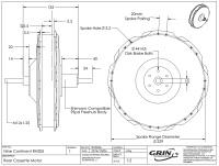 9C Cassette Motor Dimensional Diagram