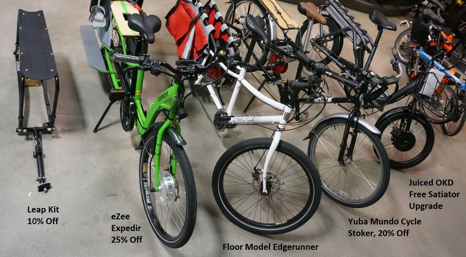 Cargo Ebikes on Grin Floor