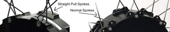 Crown motor spokes, straight pull versus regular