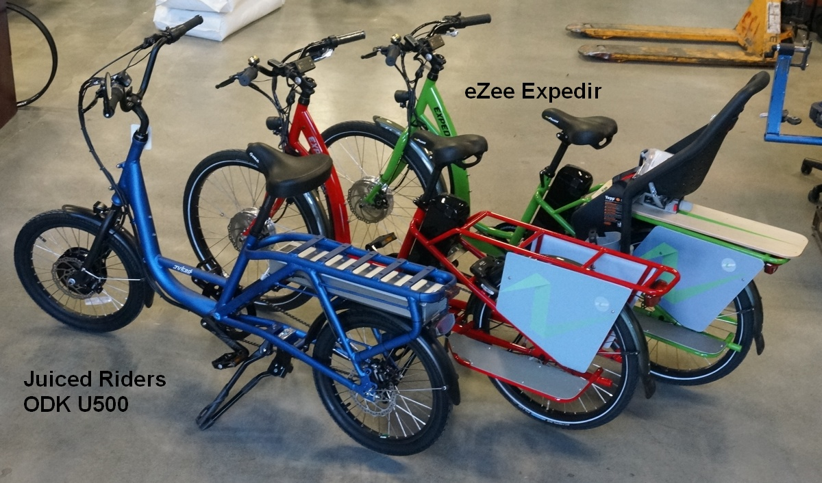 Juirced Riders U500 and eZee Expedir Electric Cargo Bikes, now at Grin