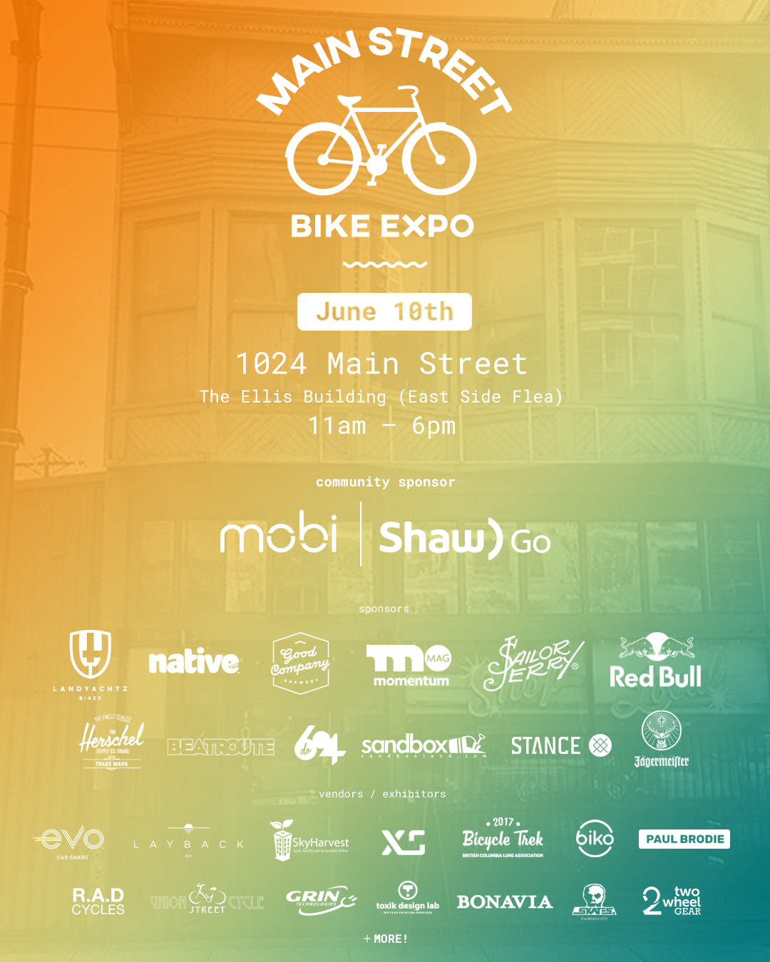 Main Street Bike Expo Poster