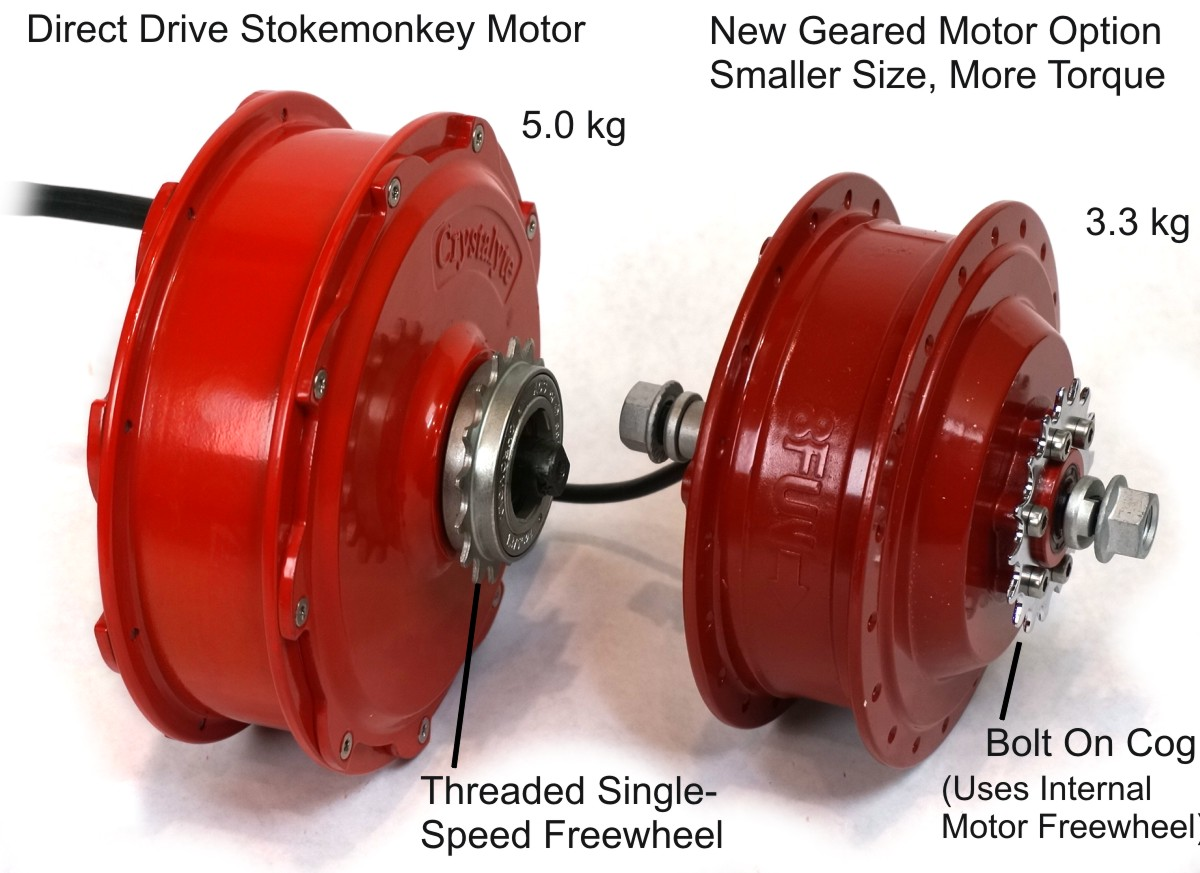 Comparison of Geared and DD Stokemonkey Motors