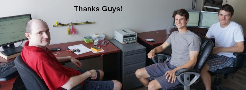 Gary, Stefan, and Adam