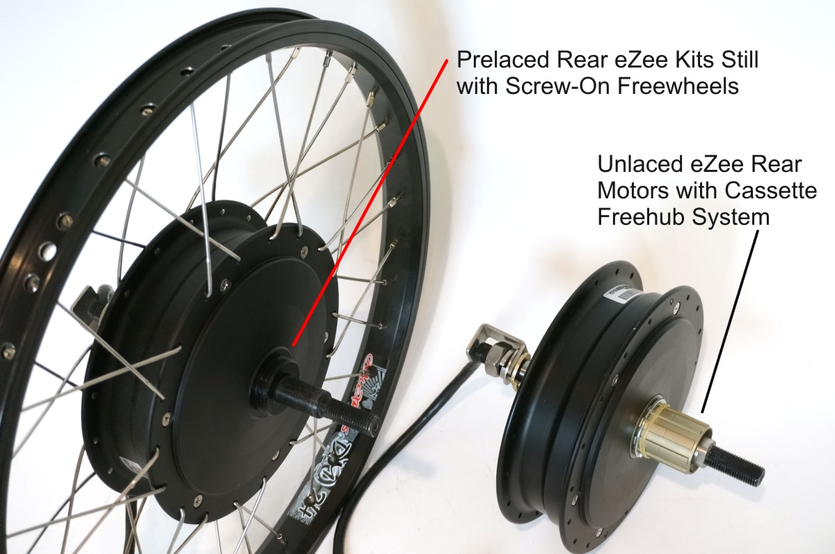 eZee Rear Hub Motor with Cassette Freehub