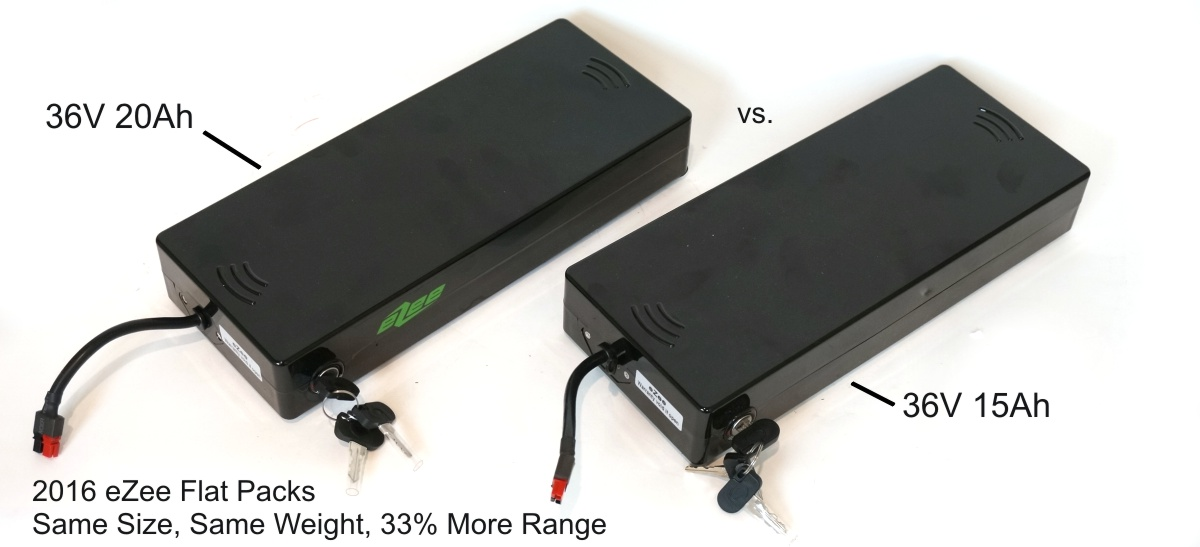 eZee Flat Battery, Upgraded Panasonic Cells vs Sony V3